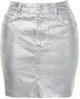 Topshop TALL High Waisted Denim Skirt
