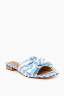 Jaggar Footwear Striped Bow Flats