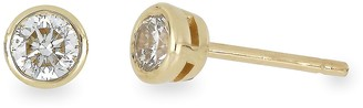 Bony Levy 14K Yellow Gold Bezel Set Diamond Stud Earrings - 0.33 ctw