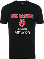 Love Moschino logo T-shirt - men - Cotton/Spandex/Elastane - S
