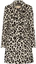 Burberry Plaistow Leopard-print Llama Hair And Wool-blend Trench Coat - Leopard print