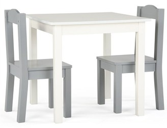 Danawares Tot Tutors Inspire Kids Furniture Table and 2 Chairs Grey and White