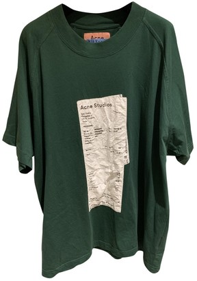 Acne Studios Bla Konst Green Cotton Top for Women