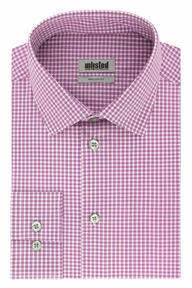 Unlisted by Kenneth Cole mens Regular Fit Checks and Stripes (Patterned) Dress Shirt