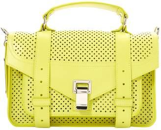 Proenza Schouler PS1 Tiny Green Leather Handbags