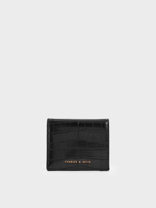 Charles & Keith Croc-Effect Small Wallet