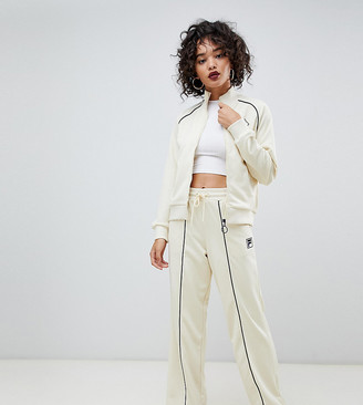 Fila tracksuit bottoms with contrast piping in rib knit two-piece