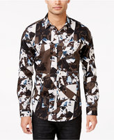 INC International Concepts Men's Vostak Abstract-Print Long-Sleeve Shirt, Only at Macy's