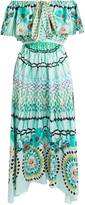 Temperley London Dream Catcher tie-front silk dress