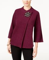 JM Collection Wool Embellished Topper, Only at Macy's