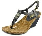 Lauren Ralph Lauren Reeta Women Open Toe Synthetic Blue Wedge Sandal.
