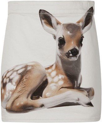 Burberry Deer Print Mini Skirt