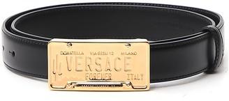 Versace License Plate Logo Buckle Belt