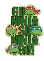 Nickelodeon Silver Buffalo Teenage Mutant Ninja Turtles Go Ninja Go! Die Cut Sign