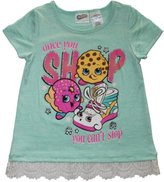 Shopkins and Moose Shopkins Shop Can't Stop Girls Lace Accent Shirt 4-16 (S (6/6x))