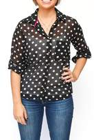 Papermoon Paper Moon Black Polka-Dot Top