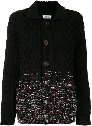 Coohem Aran-Gradation Spread Collar Cardigan