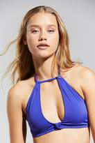 Out From Under High Neck Cut-Out Solid Bikini Top