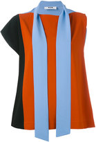 MSGM asymmetric tie-fastening tank - women - Acetate/Viscose - 40