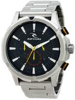 Rip Curl Maverick Chrono SSS Stainless Steel Link Band Men's Watch A2731-blk