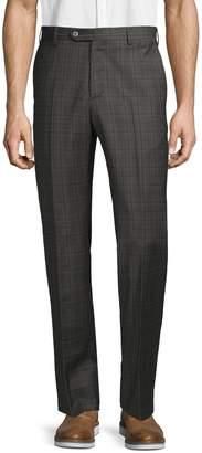 Zanella Plaid Wool Blend Pants