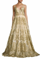 Basix II Sleeveless Embroidered Gown