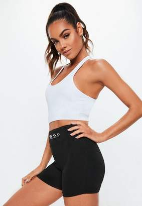 Missguided Black Micro Gym Shorts