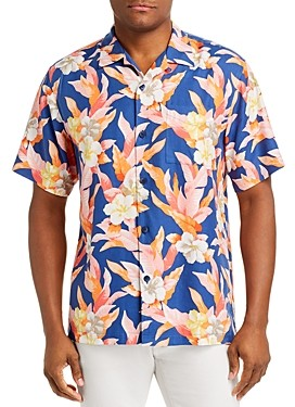 Tommy Bahama Hibiscus Sunset Regular Fit Silk Short-Sleeve Shirt