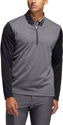 adidas Men's Lightweight UPF Half-Zip Golf Polo