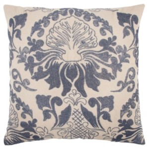 "Rizzy Home 20"" x 20"" Floral Damask Poly Filled Pillow"
