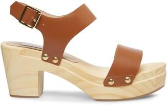 Steve Madden Fabee Leather Block Heel Sandals