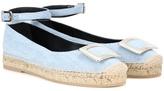 Roger Vivier Mytheresa.com Exclusive Embellished Fabric Sandals
