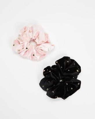Lele Sadoughi Embellished Oversized Scrunchies 2-Pack