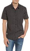 7 Diamonds Men's Shadow Dancing Print Woven Shirt