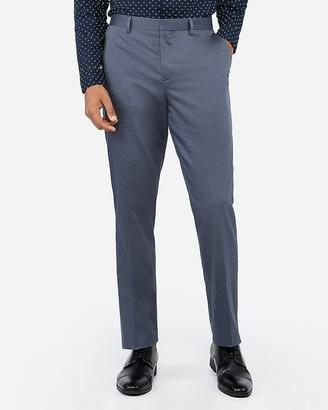 Express Classic Dusty Blue Cotton Oxford Stretch Suit Pant