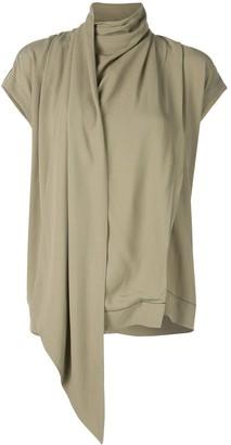 Proenza Schouler Short Sleeve Scarf Top