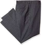 Alexander Julian Colours Men's Big and Tall Flat Front Check Suit Dress Pant with Adj. Waist