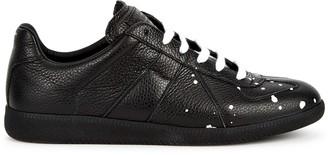 Maison Margiela Replica paint-splatter leather sneakers