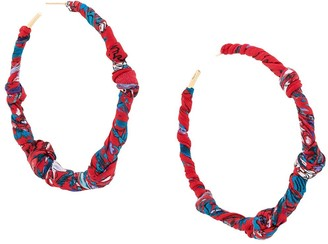 Salvatore Ferragamo Scarf-Knot Oversized Hoop Earring