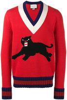 Gucci Pather intarsia sweater - men - Wool - XS