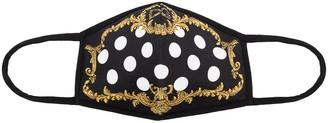 Dolce & Gabbana Barocco polka dot print face mask