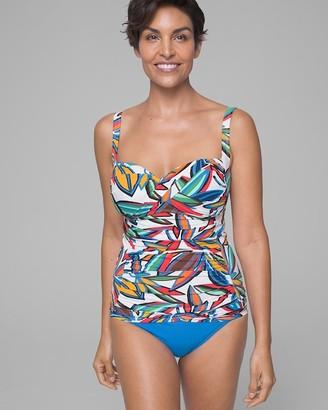 Soma Intimates Bleu Rod Beattie Lush Life Twist Over the Shoulder Tankini Swim Top