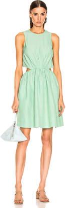 Jil Sander Sleeveless Dress in Light Pastel Green   FWRD