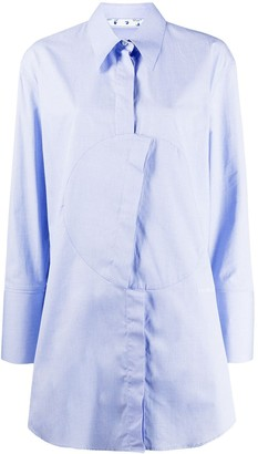 Off-White Asymmetric-Fastening Oversize Shirt