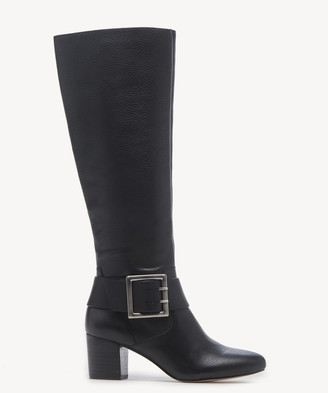 Sole Society Women's Pashan Buckle Tall Boots Black Size 5 Leather From