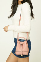 Forever 21 FOREVER 21+ Faux Leather Mini Bucket Bag