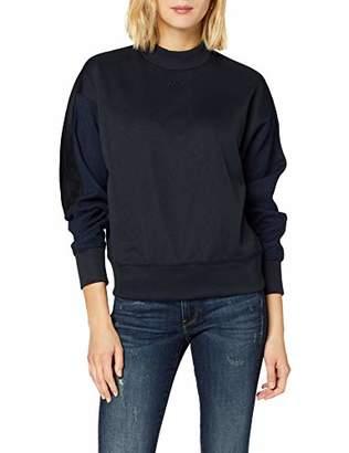 G Star Women's Pleat Loose Collar Sweatshirt,Large