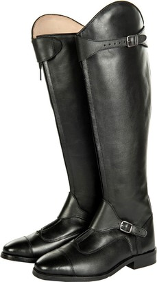 HKM Riding Boots Polo Soft Leather Regular Length/Width Black Black Size:43