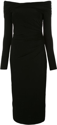 Jason Wu Collection Off The Shoulder Midi Dress