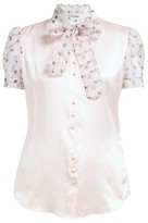 Edeltrud Hofmann - Ann Pussy-bow Silk-charmeuse Blouse - Womens - Pink